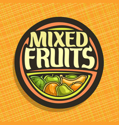 logo for fruits vector image