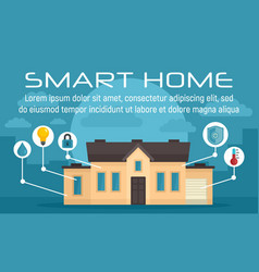 luxury smart home concept banner flat style vector image