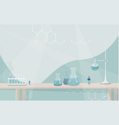 medical laboratory science research concept lab vector image
