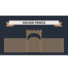 Metallic fence isolated on night background vector