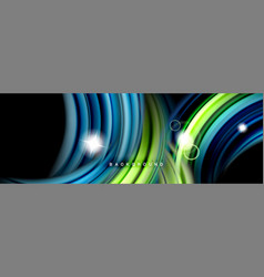 Mixing color waves on black liquid flowing shapes vector