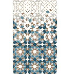 Moroccan tile repeating border vector