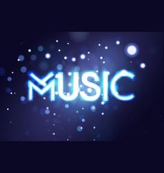 music neon sing night club banner logo emblem vector image