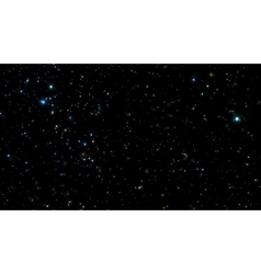 Night sky with bright stars vector image