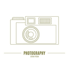 Old camera - branding identity element isolated on vector