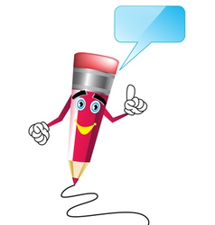 pencil cartoon vector image vector image