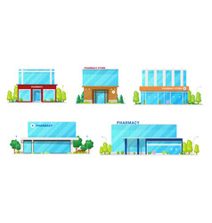 pharmacy drug store buildings architecture vector image