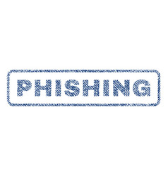 Phishing textile stamp vector