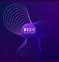 radial sound wave curve colorful blue and purple vector image