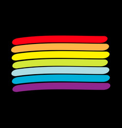 rainbow flag lgbt gay symbol colorful line set vector image