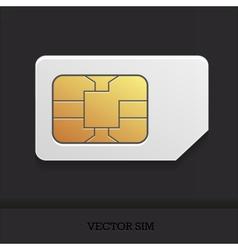Realistic sim card vector