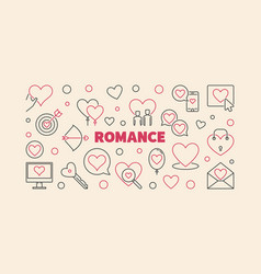 Romance line banner made with heart and vector