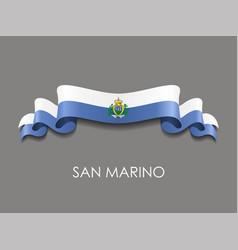 San marino flag wavy ribbon background vector