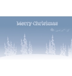 Silhouette of santa sleigh Christmas backgrounds vector