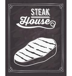 Steak house design vector
