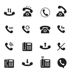 telephone call icon business technology vector image