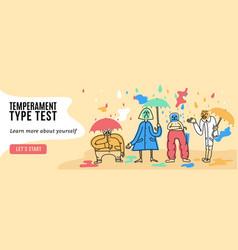Temperament types banner vector