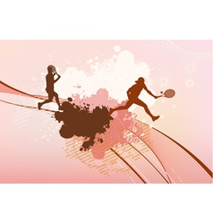 tennis players background vector image vector image