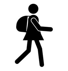 tourist icon vector image