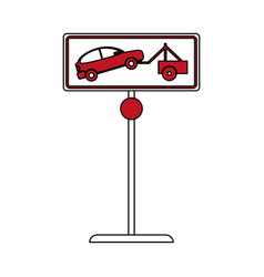 Tow away sign vector