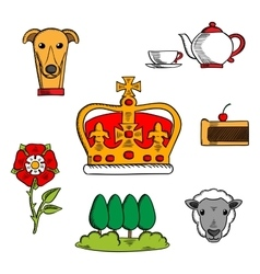 Traditional symbols great britain vector