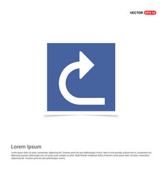 Turn right arrow icon - blue photo frame vector