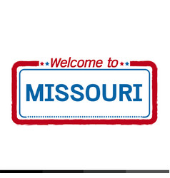 Welcome to missouri of us state design vector