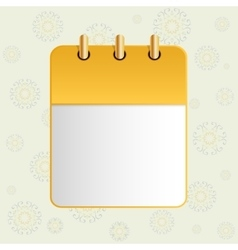 White sheet of calendar vector