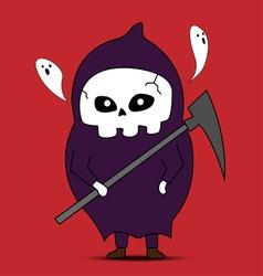 Angel of death cartoon vector image