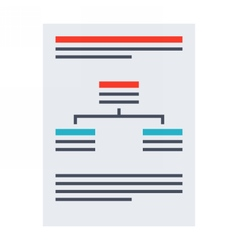 Business plan document vector image vector image