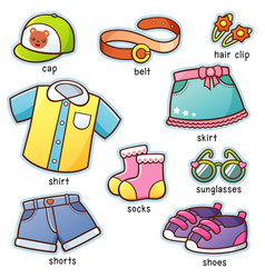 Clothes vocabulary vector