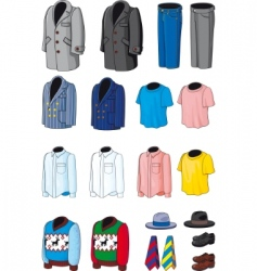 collection outerwear vector image vector image