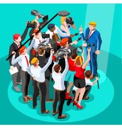 Election News Infographic Tribune Isometric People vector image vector image