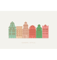 Europe city background vector image vector image