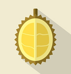 Flat Design Durian Icon vector image