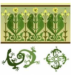 lizards vector image vector image