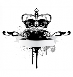 poster with crown and tape vector image