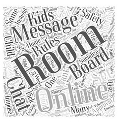 Rules to Set for Online Message Boards and Chat vector image