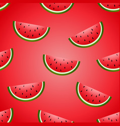 seamless fun watermelon hand drawing vector image