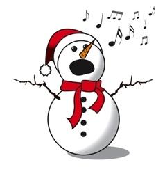 Snowman singing -choir vector image