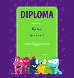 vertical children diploma or certificate vector image