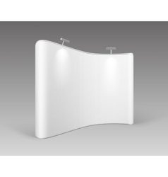 White Trade Exhibition for Presentation Backlights vector image vector image
