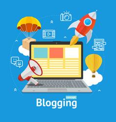 blogging concept vector image