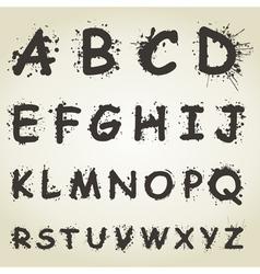 Blot Alphabet Fonts vector image vector image