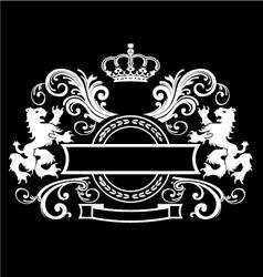 Vintage royal Emblem vector image