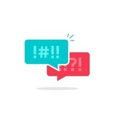 Argue chat bubbles icon argument messages vector image vector image
