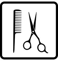 black hair salon sign vector image vector image