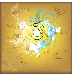coffee sketch vector image vector image