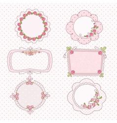 Doodle vintage frames vector image