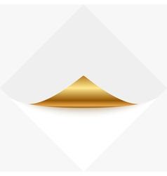 gold memo vector image vector image